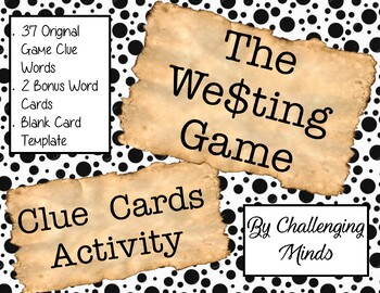 The Westing Game - Clue Word Cards
