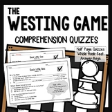 The Westing Game Chapter Quizzes (Westing Game Comprehension Questions)