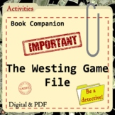 The Westing Game Detective Files  Book Companion with Activities