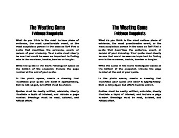 The Westing Game Evidence Snapshots and Quotes