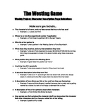 The Westing Game Guidelines for Character Descriptions (for Weebly Project)