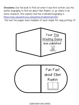 The Westing Game Lapbook for Novel Study