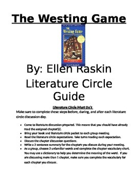 The Westing Game Literature Discussion and Activity Guide