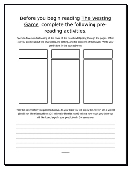 The Westing Game Literature Guide Part 1