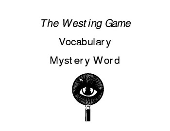 The Westing Game -- Mystery Vocab Web