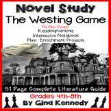The Westing Game Novel Study & Enrichment Project Menu; Plus Digital Option