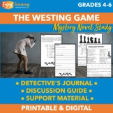 The Westing Game Activities   Mystery Novel Study Unit