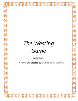 The Westing Game Novel Unit Plus Grammar