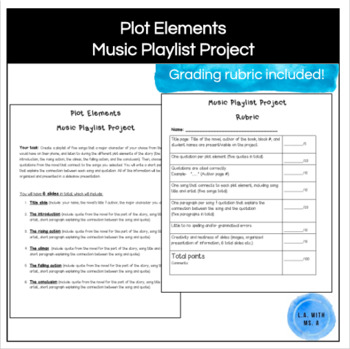 The Westing Game- Plot Elements Music Playlist Project & Rubric