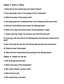 The Westing Game Reading Questions