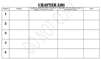 The Westing Game - Student Detective Log