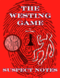 The Westing Game Novel Character/Suspect Notes