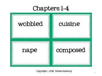 The Westing Game  Vocabulary Word Wall