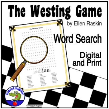 The Westing Game Word Search Puzzle