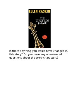 The Westing Game Writing Prompts