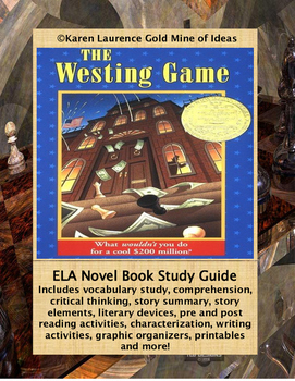 The Westing Game by Beatrice Davis ELA Novel Reading Study Guide