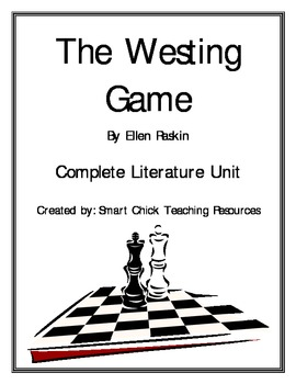 """""""The Westing Game"""", by E. Raskin, Complete Unit, 60 Total Pages!"""