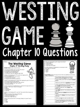 The Westing Game by Ellen Raskin Chapter 10 reading comprehension questions