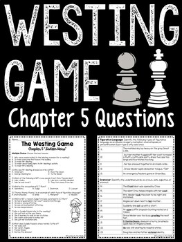 The Westing Game by Ellen Raskin Chapter 15 reading comprehension questions