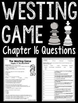 The Westing Game by Ellen Raskin Chapter 16 reading compre