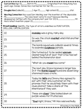 The Westing Game by Ellen Raskin Chapter 17 reading comprehension questions