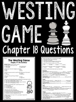 The Westing Game by Ellen Raskin Chapter 18 reading compre