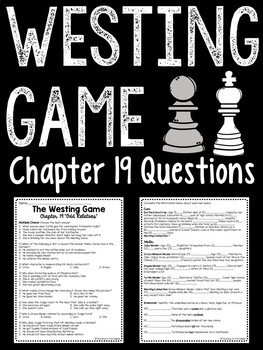 The Westing Game by Ellen Raskin Chapter 19 reading comprehension questions