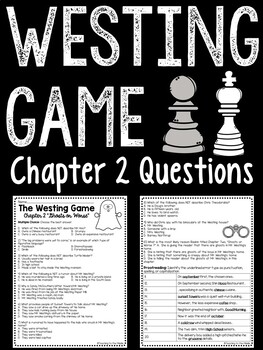 The Westing Game by Ellen Raskin Chapter 2 questions