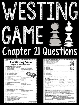 The Westing Game by Ellen Raskin Chapter 21 reading compre