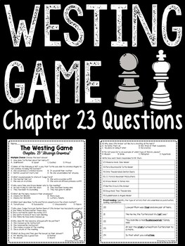 The Westing Game by Ellen Raskin Chapter 23 reading compre