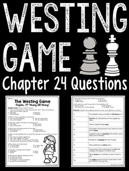 The Westing Game by Ellen Raskin Chapter 24 reading comprehension questions