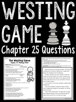 The Westing Game by Ellen Raskin Chapter 25 reading compre