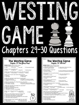 The Westing Game by Ellen Raskin Chapter 29-30 reading comprehension questions