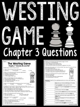 The Westing Game by Ellen Raskin Chapter 3 reading comprehension questions