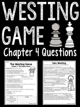 The Westing Game by Ellen Raskin Chapter 4 reading comprehension questions