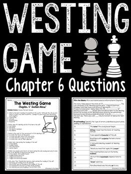 The Westing Game by Ellen Raskin Chapter 6 reading compreh