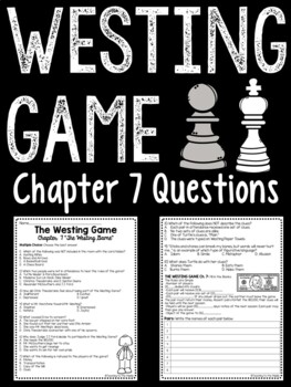 The Westing Game by Ellen Raskin Chapter 7 reading comprehension questions