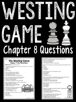 The Westing Game by Ellen Raskin Chapter 8 reading compreh