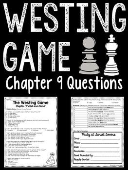 The Westing Game by Ellen Raskin Chapter 9 reading compreh