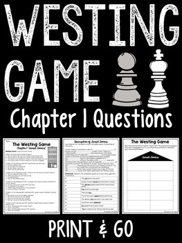 The Westing Game by Ellen Raskin character crossword puzzl