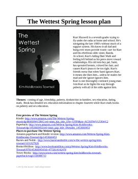 The Wettest Spring lesson plan ~ by Kim Townsel
