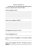 The Whale Comprehension and Short Story Questions