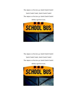 The Wheels On The Bus Booklet