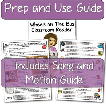The Wheels On The Bus: Classroom Readers ~ Editable