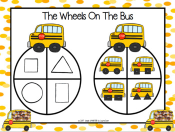 The Wheels On The Bus:  NO PREP Go to School Themed Shape Spin Game