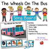 The Wheels On The Bus Song Board, Visual Supports for 16 V