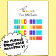 Five Little Ducks Piano Song Sheet - Play Music by Color!