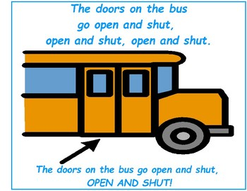 The Wheels On The Bus - Song-to-Book Set [speech therapy and autism]