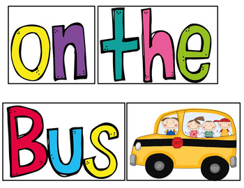 The Wheels on the Bus  (A Pocket Chart Activity)