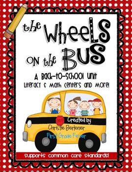 The Wheels on the Bus {Back-to-School Math & Literacy Centers & More!}